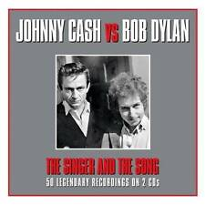 JOHNNY CASH vs BOB DYLAN - THE SINGER AND THE SONG (NEW SEALED 2CD)