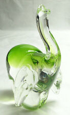 "MURANO VENETIAN ITALIAN ART GLASS 9"" ELEPHANT WITH TRUNK UP FOR LUCK SCULPTURE"