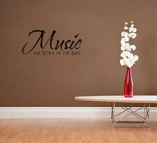 Music The Voice Of The Soul Vinyl Wall Decal Home Decor Inspirational Quote