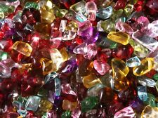 40g of beautiful Piezo Italian Glass Chip Beads 5-6mm Mixed Rainbow Free postage