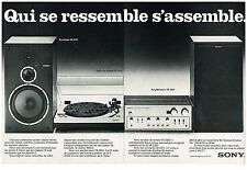 Publicité Advertising 1977 (2 pages) La Chaine Hi-Fi 3000-II Sony
