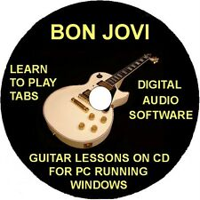 Bon Jovi 120 Guitar Tabs Software Lesson CD, 34 Backing Tracks & Free Bonuses
