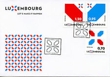 Luxembourg 2016 FDC New Signature Let's Make it Happen 3v Set Cover Stamps