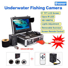 "EYOYO 9"" 50M Professional Fish Finder Underwater Video Camera Monitor 1000TVL IR"
