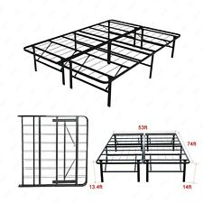Modern Full Size Bi-Fold Folding Platform Metal Bed Frame Mattress Foundation