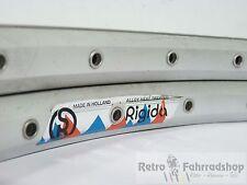 2Stk. Rigida 19x559 MTB 36 Loch Felgen silber Baujahr ca. 1993/94  RAR 550g Kult