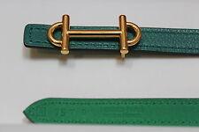 "Hermes Paris Exclusive 13mm Women's Belt 75 cm Gold ""H"" Buckle"