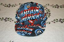 Captain America Fitted Avengers Hat Marvel Comics Heroes S/M