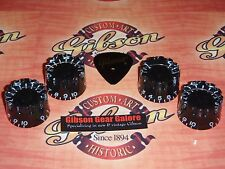 Gibson Les Paul Knobs Ridged Black Speed Set Guitar Parts SG Custom ES HP Grip L