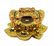 Fortune Gold Money Coin Frog Toad Feng Shui Decoration Charm of prosperity
