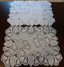 Heritage Lace Polyster Rectangular White Pinecone Placemats 14x19 4 in set (104)