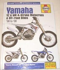 Haynes Manual Yamaha Yz Wr Yz250 Yz400 yz426 Yz450 Wr250 Wr400 Wr426 Wr450 98-08