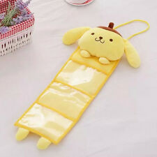 cartoon pom pom purin yellow pudding dog plush toy hanging storage bag gift 1pc