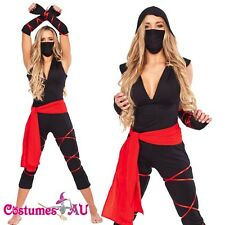Deadly Spirit Ninja Samurai Master Adult Halloween Fancy Dress Costumes AU