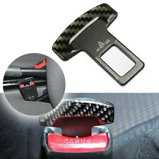Carbon Fiber Alloy Safety Seatbelt Buckle Alarm Stopper Null Insert For Car SUV
