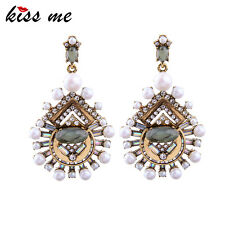 KISS ME New Statement Earrings Popular Simulated Pearls Big Earrings ed01353