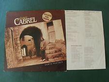 FRANCIS CABREL: CARTE POSTALE - 33T LP pochette intérieure + paroles CBS 85344