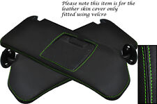 GREEN STITCHING FITS SUZUKI VITARA 1988-1998 2X SUN VISORS LEATHER COVERS ONLY