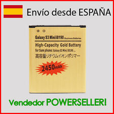 Bateria GOLD Samsung GALAXY S3 MINI i8190 / Ace i8160 -LARGA DURACION- 2450mAh-