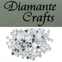 200 x 4mm Clear Stars Diamante Loose Flat Back Rhinestone Vajazzle Body Gems
