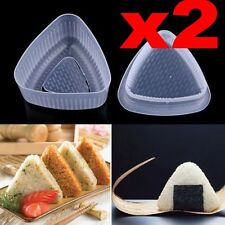 2x Triangle Form Mould Sushi DIY Onigiri Rice Ball Bento Press Maker Mold Tool