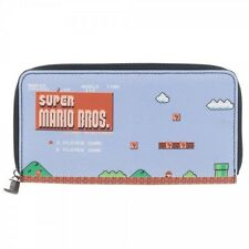 SUPER MARIO BROTHERS Logo Soft cover case zipper wallet checkbook