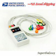 CONTEC OLED Dynamic ECG System 12 lead ECG EKG 24 hours holter  USB PC software