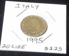 A Beautiful Shiny 1995 Italy Twenty LIRE Aluminum - Bronze  Piece (Ungraded)