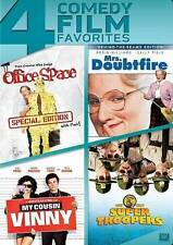 4 DVD Films - Office Space - Mrs Doubtfire -My Cousin Vinny - Super Troopers New