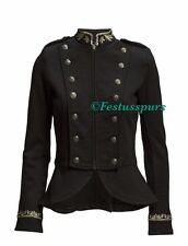 $198 Denim&Supply Ralph Lauren Embroidered Military Officer Jacket-WOMEN-L