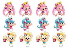 24 Shopkins Shoppies Cupcake/Fairy Cake Toppers **Top Half Toppers**