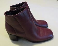 """White Mountain """"Fairchild"""" Burgundy Red Leather Ankle Boots Heels-Size 7.5 M NIB"""