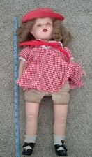 VINTAGE HORSMAN COMPOSITION HEAD SLEEPY EYES OPEN MOUTH WITH TEETH DOLL 21""