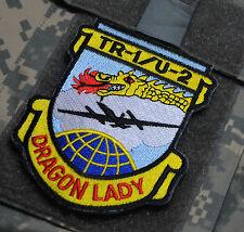 LOCKHEED TR-1/U-2 HIGH ALTITUDE SPY PLANE DRAGON LADY hook/loop INSIGNIA