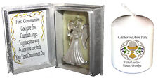 1st Holy Communion special poem gift  Crystal Angel & free holy communion candle
