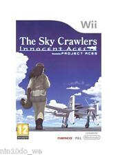 THE SKY CRAWLERS: INNOCENT ACES (Wii) =RARE AIRCRAFT FLIGHT SIM SIMULATION GAME