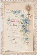 IMAGE PIEUSE-CANIVET-HOLY CARD SANTINI/CALICE/FLEURS DE LIN-n°1326/K.F & Z.Paris