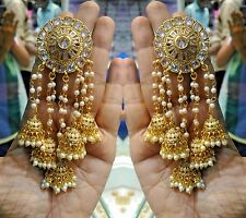 Ethnic Women Gold Plated Indian Bollywood Vintage Bridal Fashion Jhumka Earrings