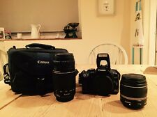 Canon EOS 400D 10.1MP Digital SLR Camera - Black (Kit 18-55mm & 75-300mm Lens]