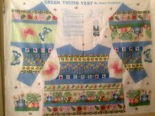 Green Thumb Vest Panel by Fabric Traditions Uncut 1996 Adult S M L Sping Summer