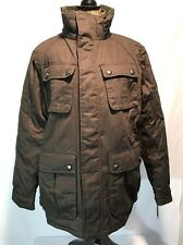 STEVE MADDEN COTTON WAX COATED QUILTED JACKET COAT BROWN XLARGE NEW! $200