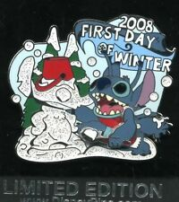 Disney 2008 Stitch First Day Of Winter 3d Pin Le 1000 New on Card
