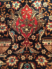 SIGNED Blue Kashmar Pictorial Persian Archealogical Rug 9'8x12'7 Circa 1920's