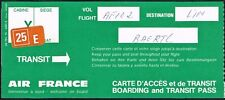 AIR FRANCE AIRLINES FRANCE AVIATION TRANSIT PASS CARD