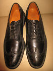 Florsheim Imperial Longwings Wingtip Brogue Black Scotch 5 Nail V Cleat 9.5 A
