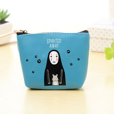 Anime Spirited Away Coin Purse Bag Mini Headphone Bag Blue Color 12.5*10*9.5 cm