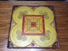 Very Colorful! Rare South Bend Toy Co.Antique Large 2-Sided Wood CARROM Game
