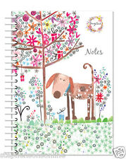 A5 Notebook Daisy Patch Animal Friends Dog Hard Back Wiro Bound