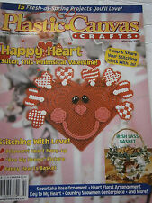 February 2000 Plastic Canvas Crafts Pattern Book Magazine Basket Heart Valentine