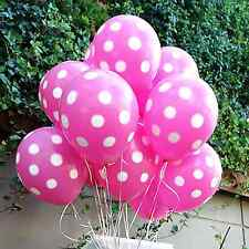 10X Pink Polka dots Minnie Mouse Balloons Party Supplies Birthday decorations